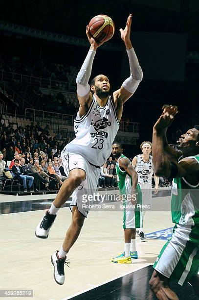 Jerome Jordan of Granarolo in action during the LegaBasket Serie A1 match between Granarolo Bologna and Sidigas Avellino at Unipol Arena on December...