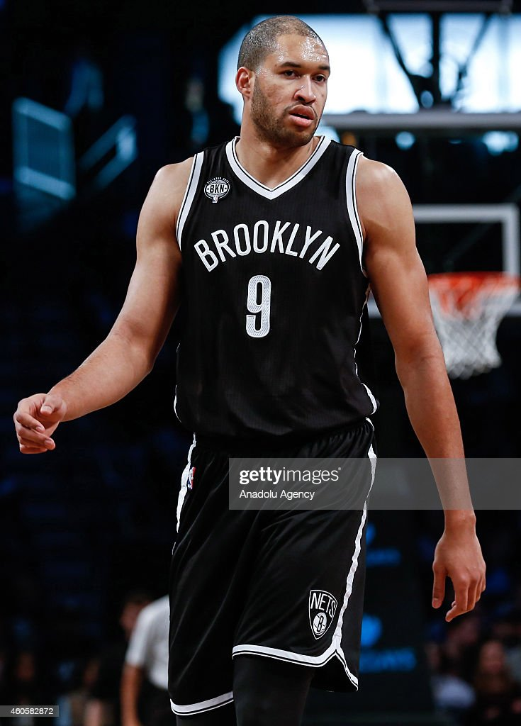 Jerome Jordan #9 of the Brooklyn Nets in action during NBA basketball game between Brooklyn Nets and Miami Heat at the Barclays Center in the Brooklyn Borough of New York City, on December 16, 2014.