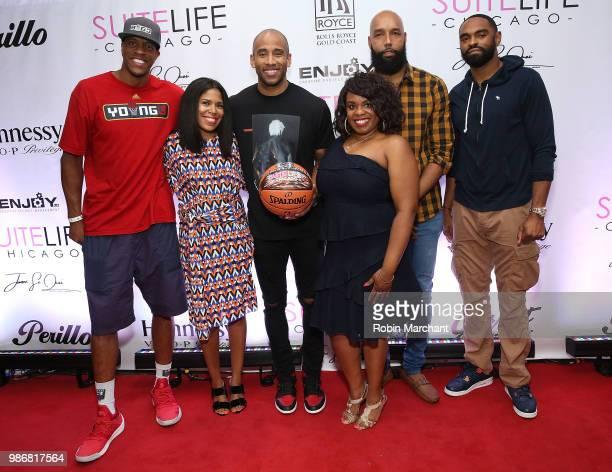 Jerome 'Junk Yard Dog' Williams Joy Glover Dahntay Jones Erika Janee Jordan Drew Gooden and Alan Anderson attend Suite Life Welcome The BIG 3 NBA...