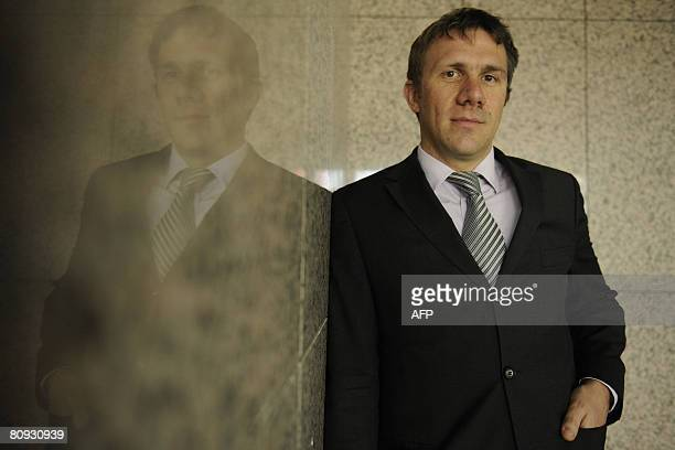 Jerome Juvin , business-development-engineer at NXP Semiconductors, poses for a photograph at the company?s Munich sales office on April 30, 2008....