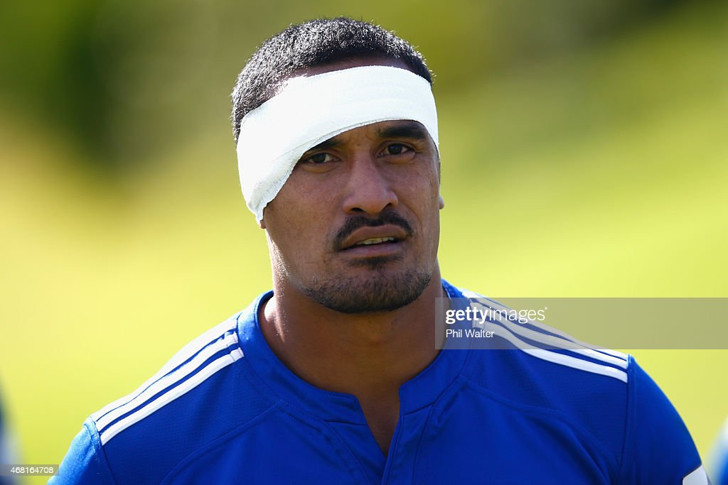 Jerome Kaino before a Blues Super Rugby press conference at Unitec on March 31, 2015 in Auckland, New Zealand. Jerome Kaino today announced that he has committed himself for the next three years to New Zealand Rugby, the Blues and Auckland Rugby.