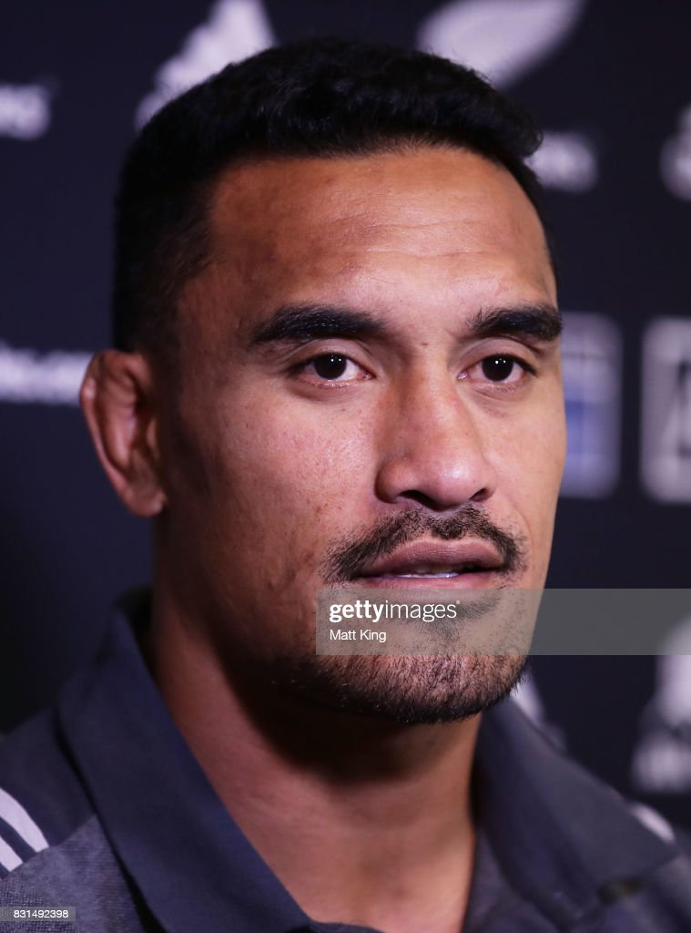 Jerome Kaino of the All Blacks speaks to the media during a New Zealand All Blacks media session at Intercontinental Double Bay on August 15, 2017 in Sydney, Australia.