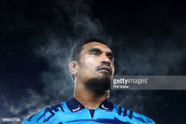 Jerome Kaino of the Blues following the round 17 Super Rugby match between the Blues and the Reds at Eden Park on June 29 2018 in Auckland New Zealand
