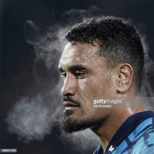 Jerome Kaino of the Blues looks on after the loss in the round 19 Super Rugby match between the Crusaders and the Blues at AMI Stadium on July 14...