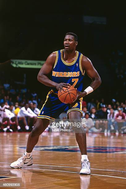 Jerome Kersey of the Golden State Warriors passes during a game played circa 1996 at OaklandAlameda County Coliseum in Oakland California NOTE TO...