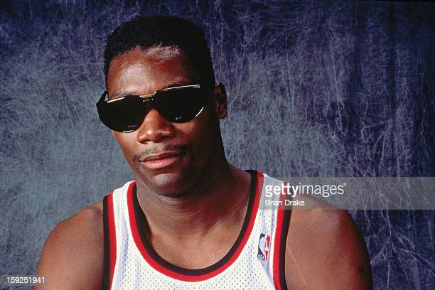 Jerome Kersey of the Portland Trail Blazers poses for a portrait during a game played at the Veterans Memorial Coliseum in Portland Oregon circa 1991...