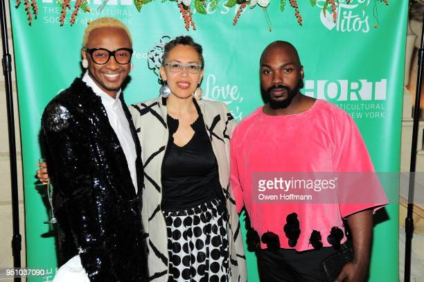 Jerome Lamar guest and John Goodman attends The Hort's New York Flower Show Dinner Dance at The Pierre Hotel on April 24 2018 in New York City