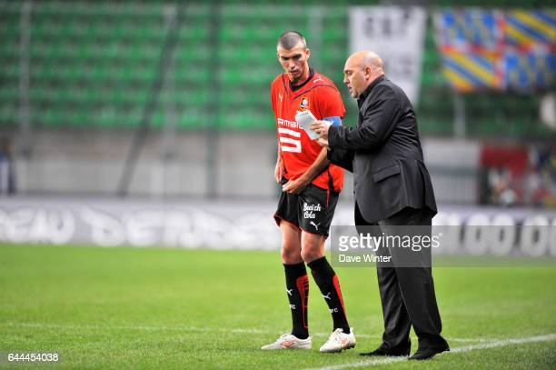 Jerome LEROY / Frederic ANTONETTI Rennes / Auxerre 8eme Journee de Ligue 1 Rennes Photo Dave Winter / Icon Sport