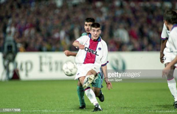 Jerome Leroy of PSG and Pep Guardiola of Barcelona during the UEFA Cup Winners' Cup Final match between Barcelona and Paris Saint Germain at De Kuip...