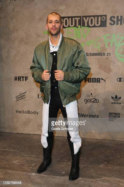 Jerome Palaz during the ABOUT YOU fashion week, AYFW, show production at Kraftwerk on January 22, 2021 in Berlin, Germany.