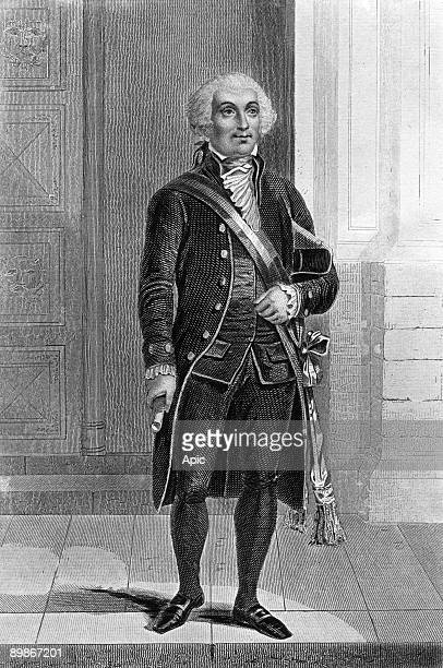 Jerome Petion de Villeneuve french lawyer and revolutionary he was mayor of Paris in 1791 engraving by Gervais after a drawing by Lacauchie