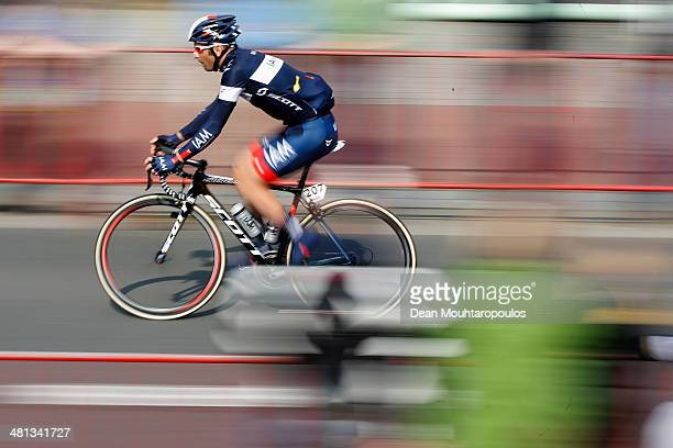 Jerome Pineau of France warms up for the E3 Harelbeke Cycle Race on March 28, 2014 in Harelbeke, Belgium.