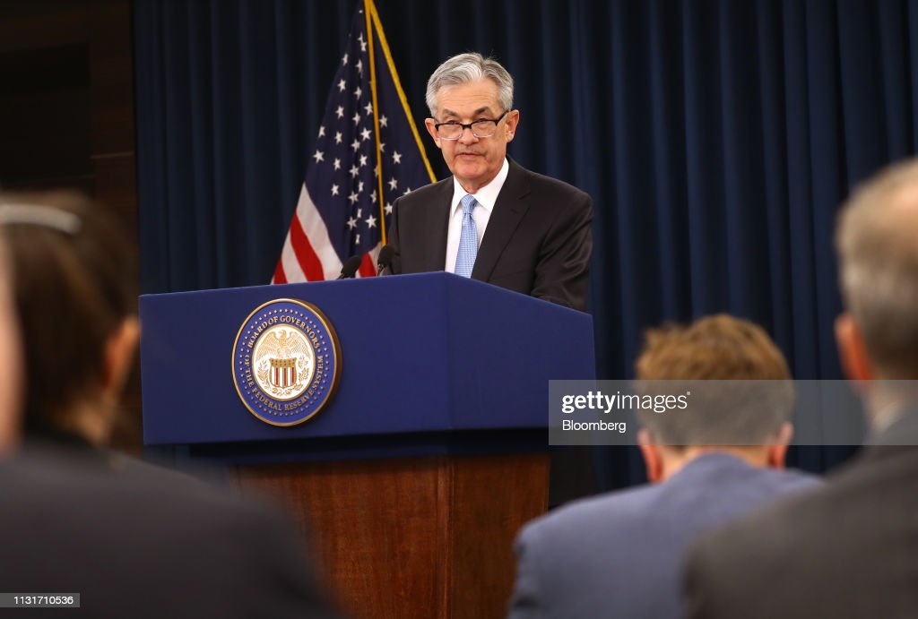 Fed Chairman Jerome Powell Holds News Conference Following FOMC Rate Decision : News Photo