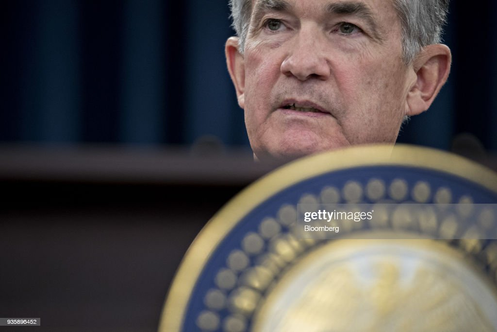 Federal Reserve Chairman Jerome Powell Holds News Conference Following FOMC Rate Decision : ニュース写真