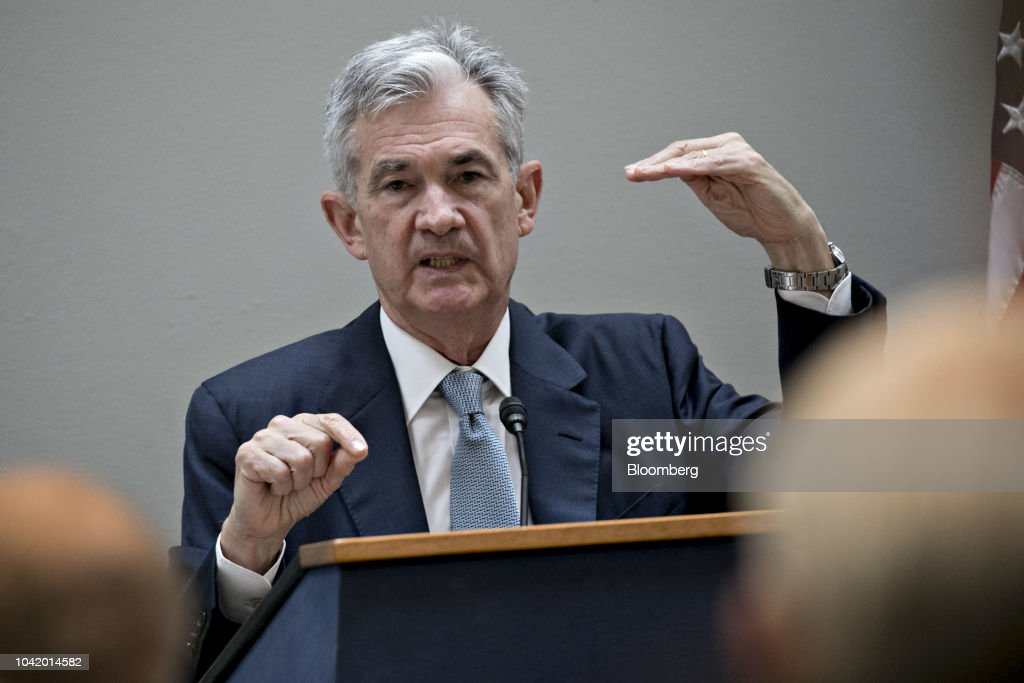 Fed Chairman Powell Speaks At Rhode Island Business Leaders Event : News Photo