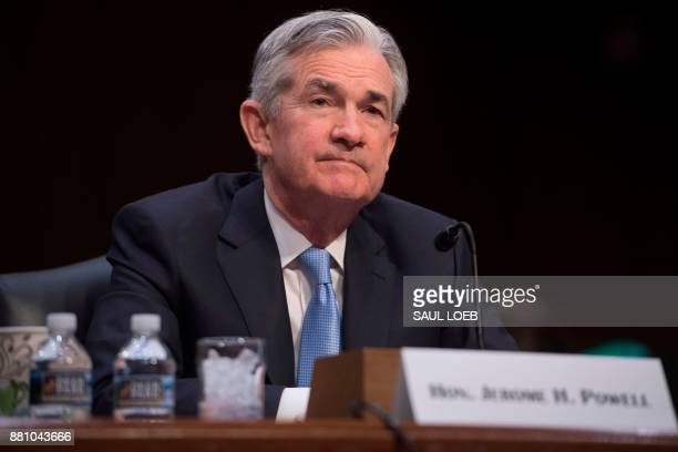 Jerome Powell nominee to be chairman of the Federal Reserve Board of Governors testifies during his confirmation hearing before the Senate Banking...