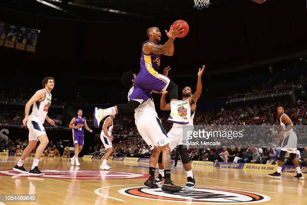 Jerome Randle of the Kings drives to the basket during the round three NBL match between the Sydney Kings and the Cairns Taipans at Qudos Bank Arena...