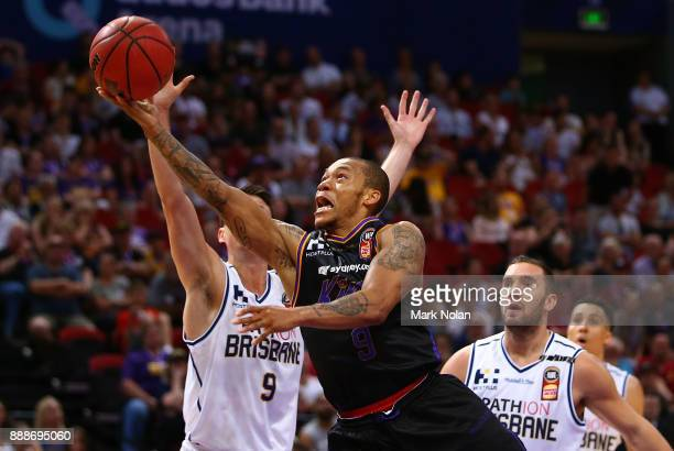 Jerome Randle of the Kings drives to the basket during the round nine NBL match between the Sydney Kings and the Brisbane Bullets at Qudos Bank Arena...