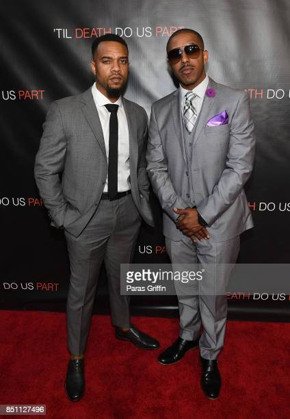 Jerome Romeo Jones and Marques Houston at 'Til Death Do Us Part Atlanta Red Carpet Screening and QA at Regal Atlantic Station on September 21 2017 in...