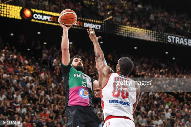 Jerome Sanchez of Boulazac during the French Final Cup match between Strasbourg and Boulazac at AccorHotels Arena on April 21 2018 in Paris France