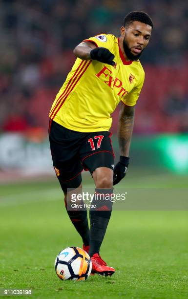 Jerome Sinclair of Watford in action during the Emirates FA Cup Fourth Round match between Southampton and Watford at St Mary's Stadium on January 27...