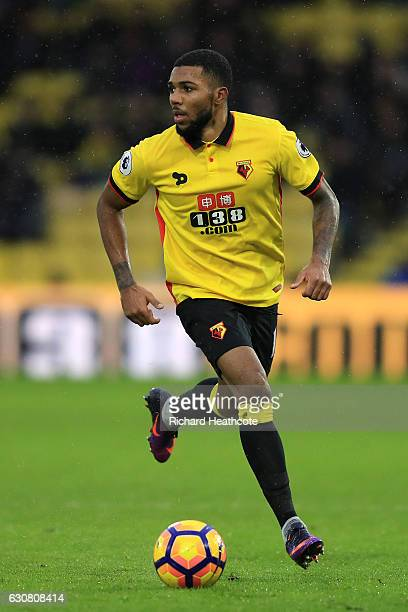 Jerome Sinclair of Watford in action during the Premier League match between Watford and Tottenham Hotspur at Vicarage Road on January 1 2017 in...