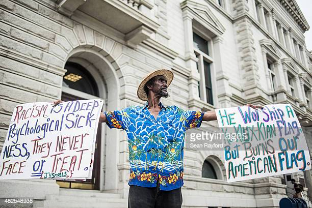 Jerome Smalls stands outside a federal court building JULY 31 2015 in Charleston South Carolina Earlier in the morning Dylann Roof the shooter...