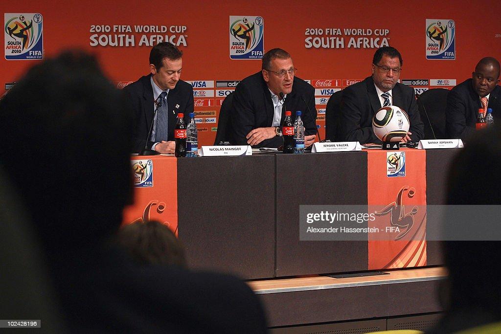 FIFA Media Briefing At Soccer City : News Photo