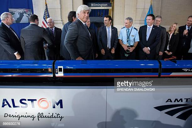 Jerome Wallut , President of Alstom Transportation Inc., leaves after an event to unveil a new high speed train at Amtrak's Joseph R. Biden, Jr.,...