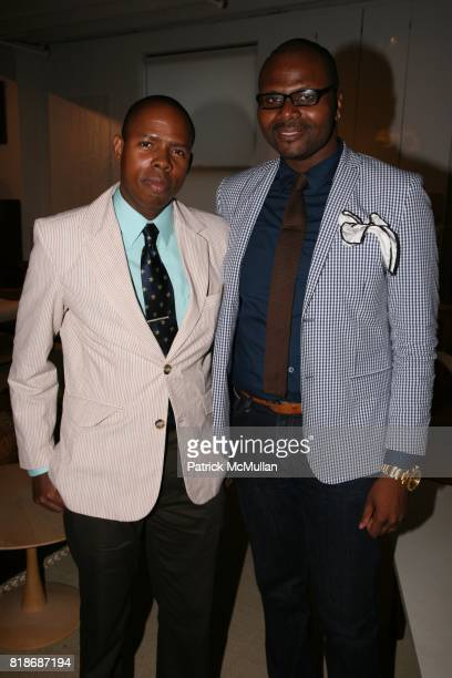 Jerome Whitehurst Jr and Teran Evans attend An Evening At The INTERIOR DESIGN BUILDING with BRYAN BATT at 306 East 61st Street on June 15 2010 in New...