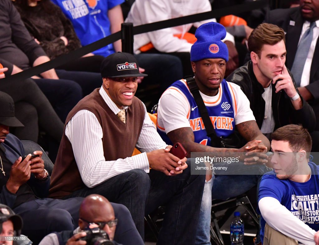 NY: Celebrities Attend Minnesota Timberwolves v New York Knicks