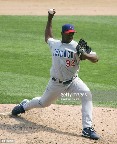 Jerome Williams of the Chicago Cubs pitches against the Chicago White Sox on June 26 2005 at US Cellular Field in Chicago Illinois The Cubs defeated...