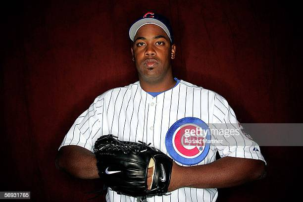 Jerome Williams of the Chicago Cubs poses during Spring Training Photo Day at Fitch Park on February 24 2006 in Mesa Arizona
