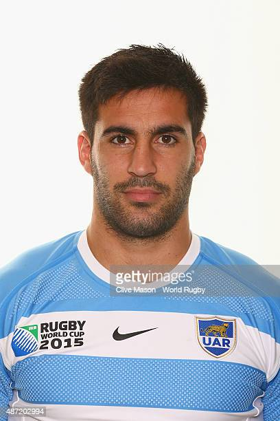 Jeronimo De La Fuente of Argentina poses for a portrait during the Argentina Rugby World Cup 2015 squad photo call at the Marriott Hotel on September...