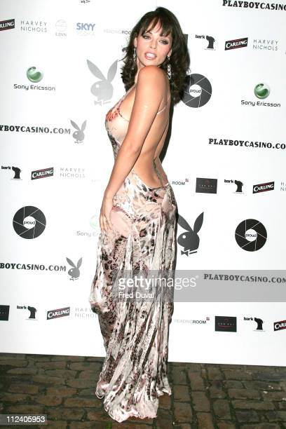 Jerri Byrne during Opening of Playboy Photography Exhibition at the Proud Gallery at Sony Ericsson Proud Camden in London Great Britain