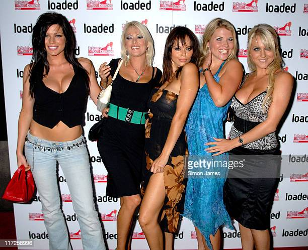 Jerri Byrne Vanessa Nimmo and guests during Loaded's Sexiest Singles Party August 1 2006 at The Play Room in London Great Britain