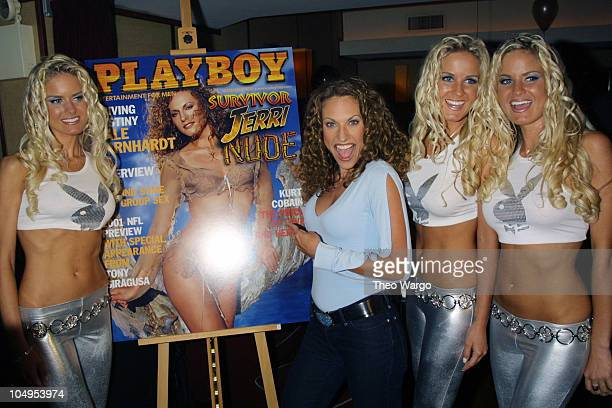 Jerri Manthey and the Dahm Triplets during Playboy Celebrates Jerri Manthey in Playboy at Light in New York City at Light in New York City New York...