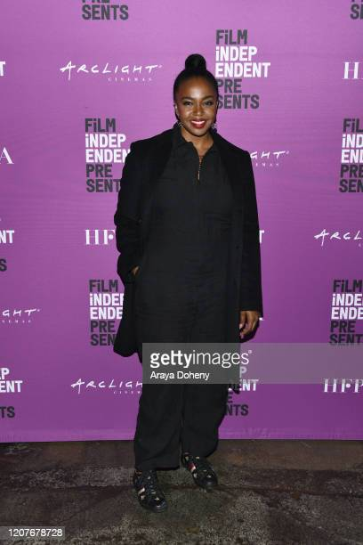 """Jerrika Hinton at Film Independent Screening Series Presents """"Hunters"""" at ArcLight Culver City on February 20, 2020 in Culver City, California."""