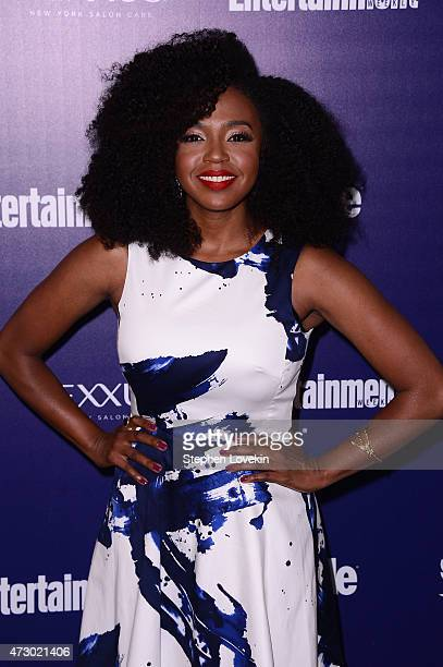 Jerrika Hinton attends the Entertainment Weekly and PEOPLE celebration of The New York Upfronts at The Highline Hotel on May 11 2015 in New York City