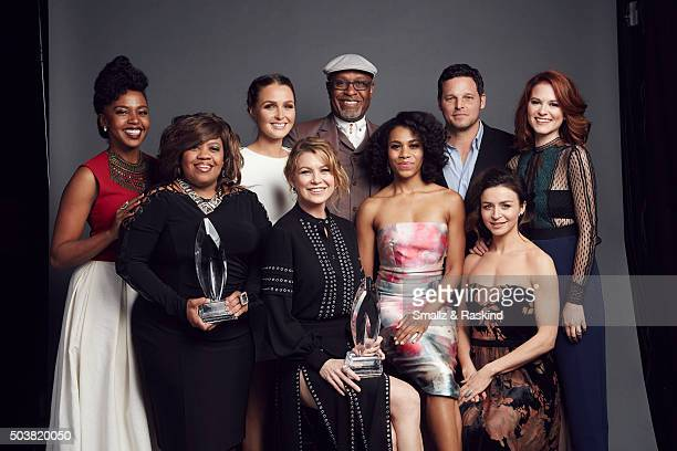 Jerrika Hinton Chandra Wilson Camilla Luddington Ellen Pompeo James Pickens Jr Kelly McCreary Justin Chambers Caterina Scorsone and Sarah Drew of...