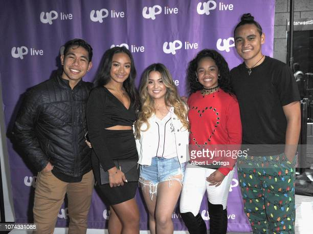 Jerrika Malae Tiana Kocher Nancy Fifita and Siaki Sii attend UpLive Hosts Party Concert held at Starwest Studios on December 16 2018 in Burbank...