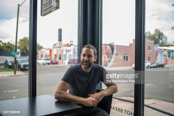 Jerrod Rosen owner of Rye Society at the Jewish deli in Denver Colorado on September 17 2018 Rosen recently opened the deli which features family...