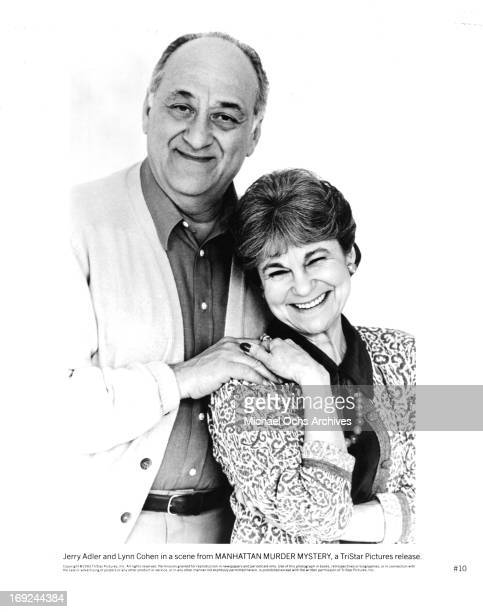 Jerry Adler and Lynn Cohen in publicity portrait for the film 'Manhattan Murder Mystery' 1993