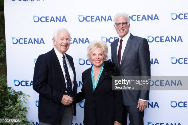 Jerry and Maralou Harrington and Actor Ted Danson attend the 11th Annual SeaChange Summer Party on July 21 2018 in Laguna Beach California
