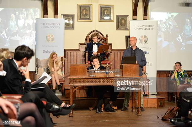 Jerry Barnett during a debate at The Cambridge Union on October 15 2015 in Cambridge United Kingdom The Cambridge Union were dabting 'This House...