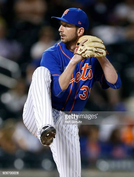 Jerry Blevins of the New York Mets in action against the Atlanta Braves during the second game of a doubleheader at Citi Field on September 25 2017...