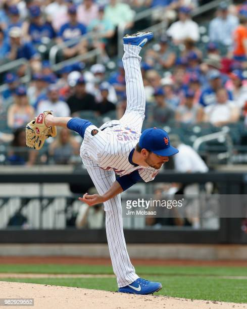 Rich Hill of the Los Angeles Dodgers in action against the New York Mets at Citi Field on June 24 2018 in the Flushing neighborhood of the Queens...