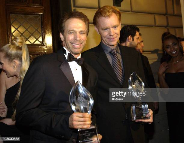Jerry Bruckheimer and David Caruso during The 29th Annual People's Choice Awards Backstage and Audience at Pasadena Civic Auditorium in Pasadena...