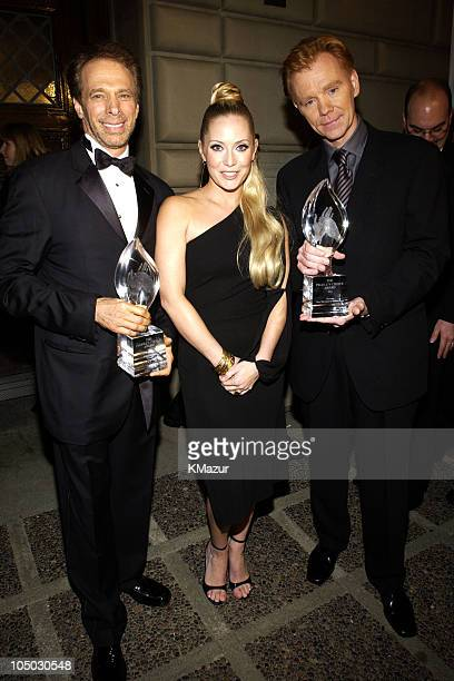 Jerry Bruckheimer Emily Procter and David Caruso during The 29th Annual People's Choice Awards Backstage and Audience at Pasadena Civic Auditorium in...