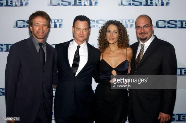 Jerry Bruckheimer executive producer Gary Sinise Melina Kanakaredes and Anthony E Zuiker cocreator/executive producer